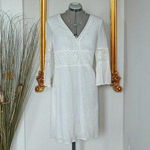Puckered Lace Crochet Dress